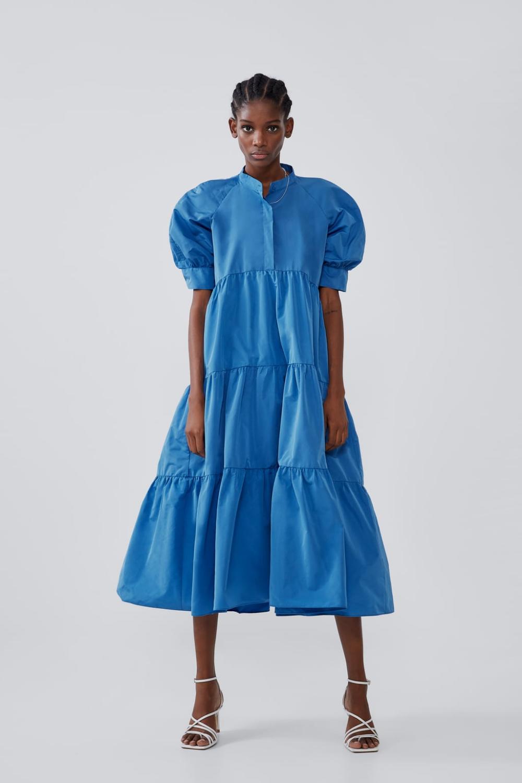 13 Kleid Blau Weiß Gestreift Zara Modell  Givil Lardo