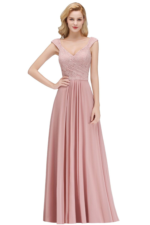 13 Schön Altrosa Kleid Mit Spitze Design  Abendkleid
