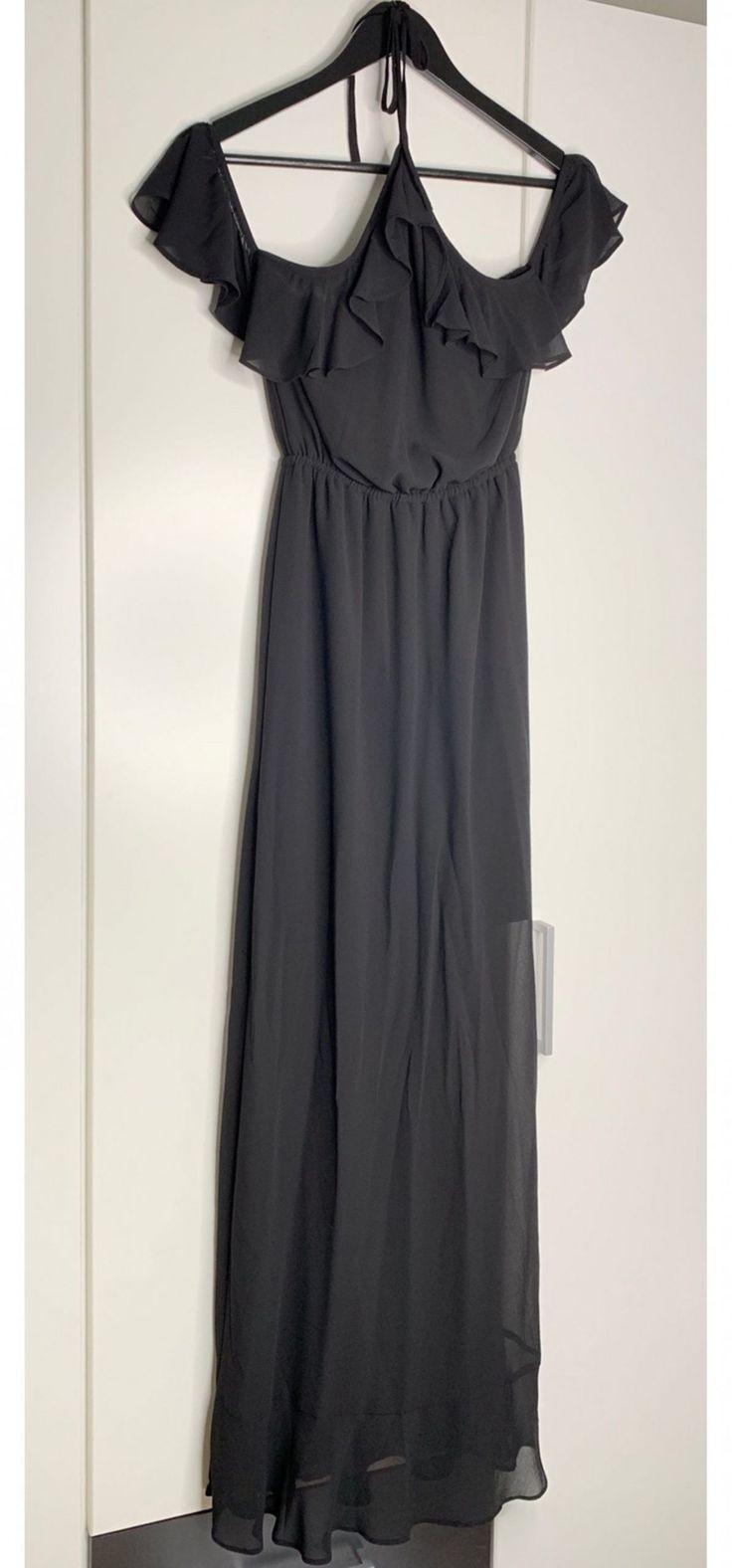 13 Schwarzes Bodenlanges Kleid In 2020  Bodenlange