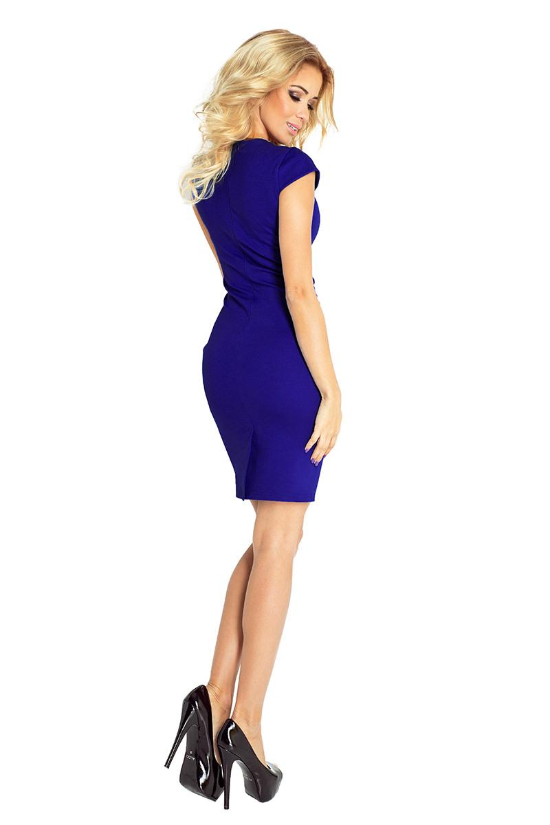 1321 Kleid Mit Ausschnitt  Blau  Numoco De