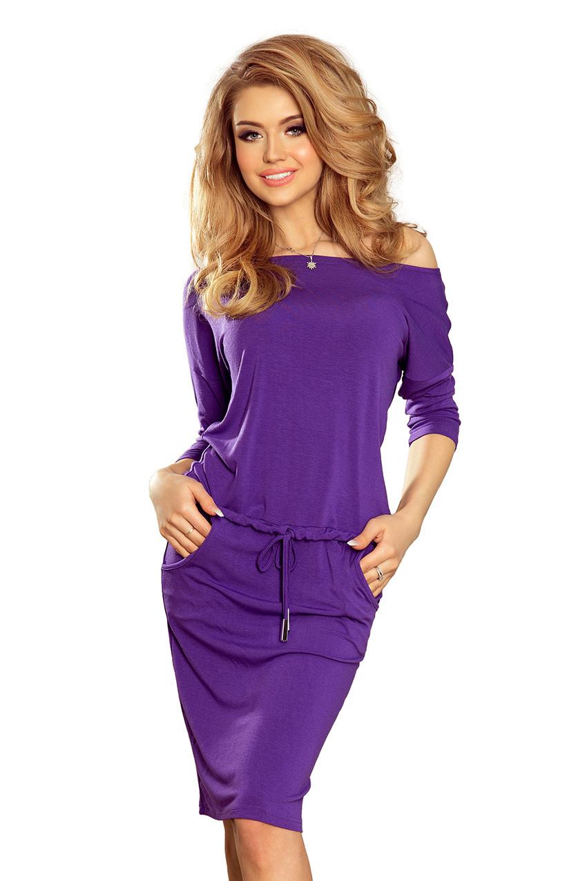1382 Sportliches Kleid  Violett  Numoco De