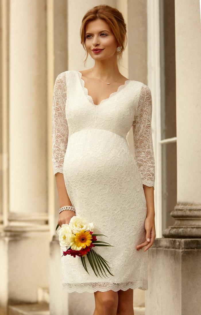 15 Prächtige Brautkleider Für Schwangere So Steht Der