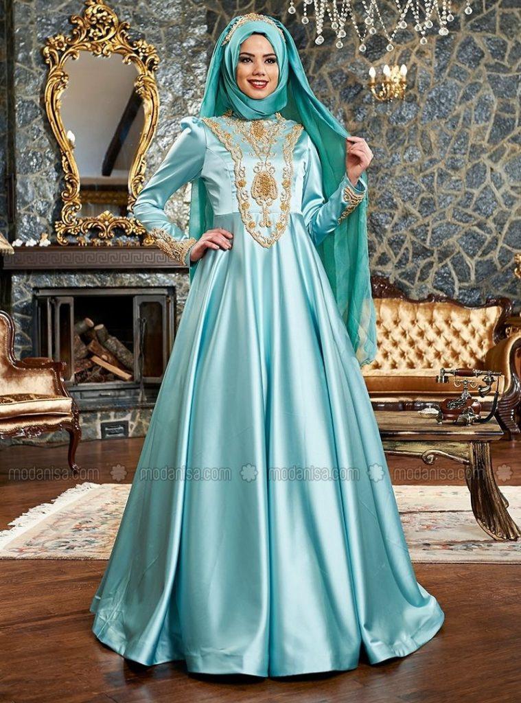 15 Schön Modanisa Abend Kleider Design  Abendkleid
