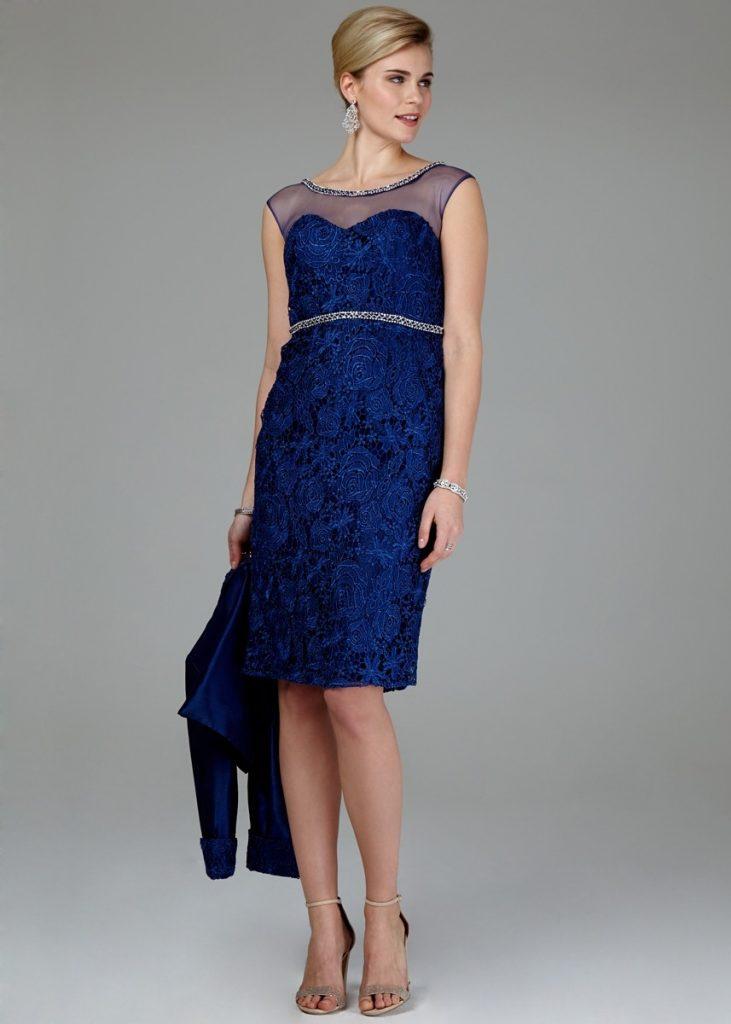 15 Spektakulär Blaues Kleid Mit Glitzer Ärmel  Abendkleid