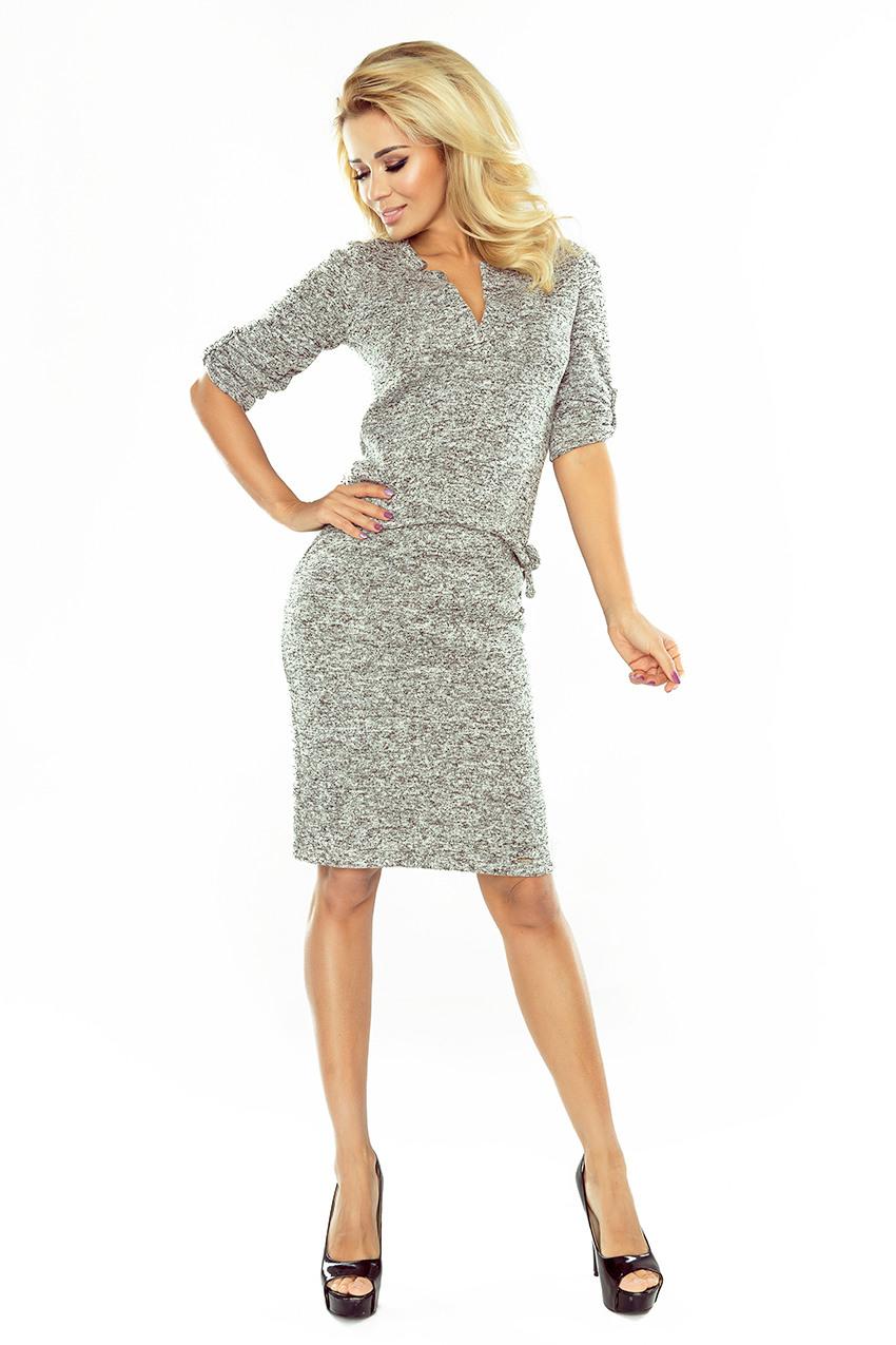 161-14 Agata - Kleid Mit Einem Kragen - Warmer Pullover