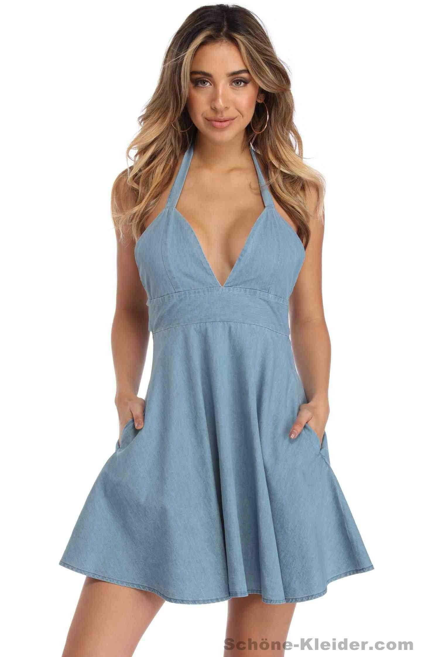 17 Einfach Damen Kleider Kurz Ärmel  Abendkleid