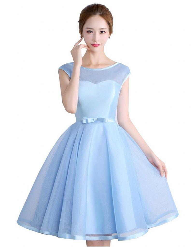 17 Schön Kleid Hellblau Kurz Bester Preis  Abendkleid