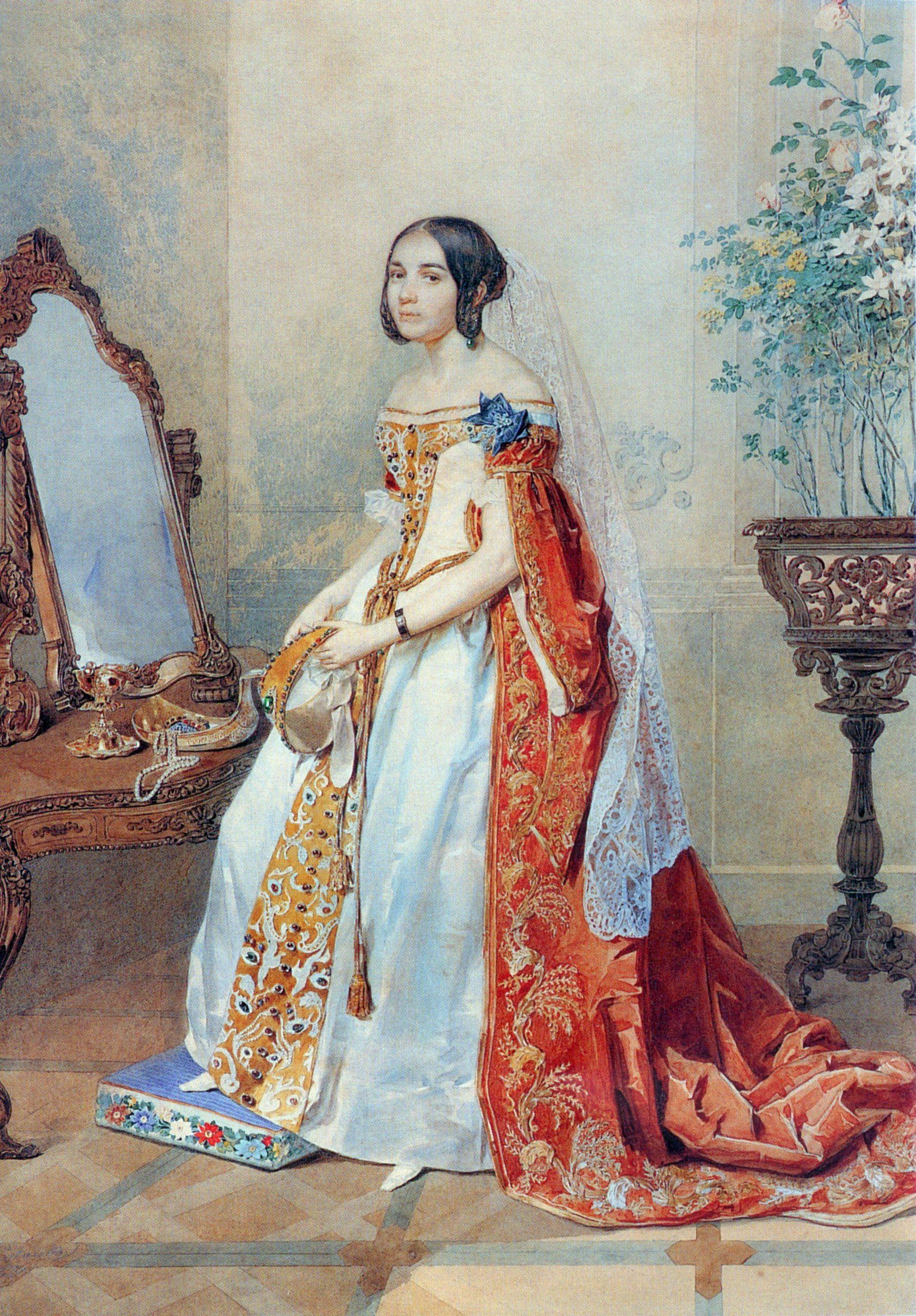 1839 Russische Hofkleidung  Kleidung Mode Russisch