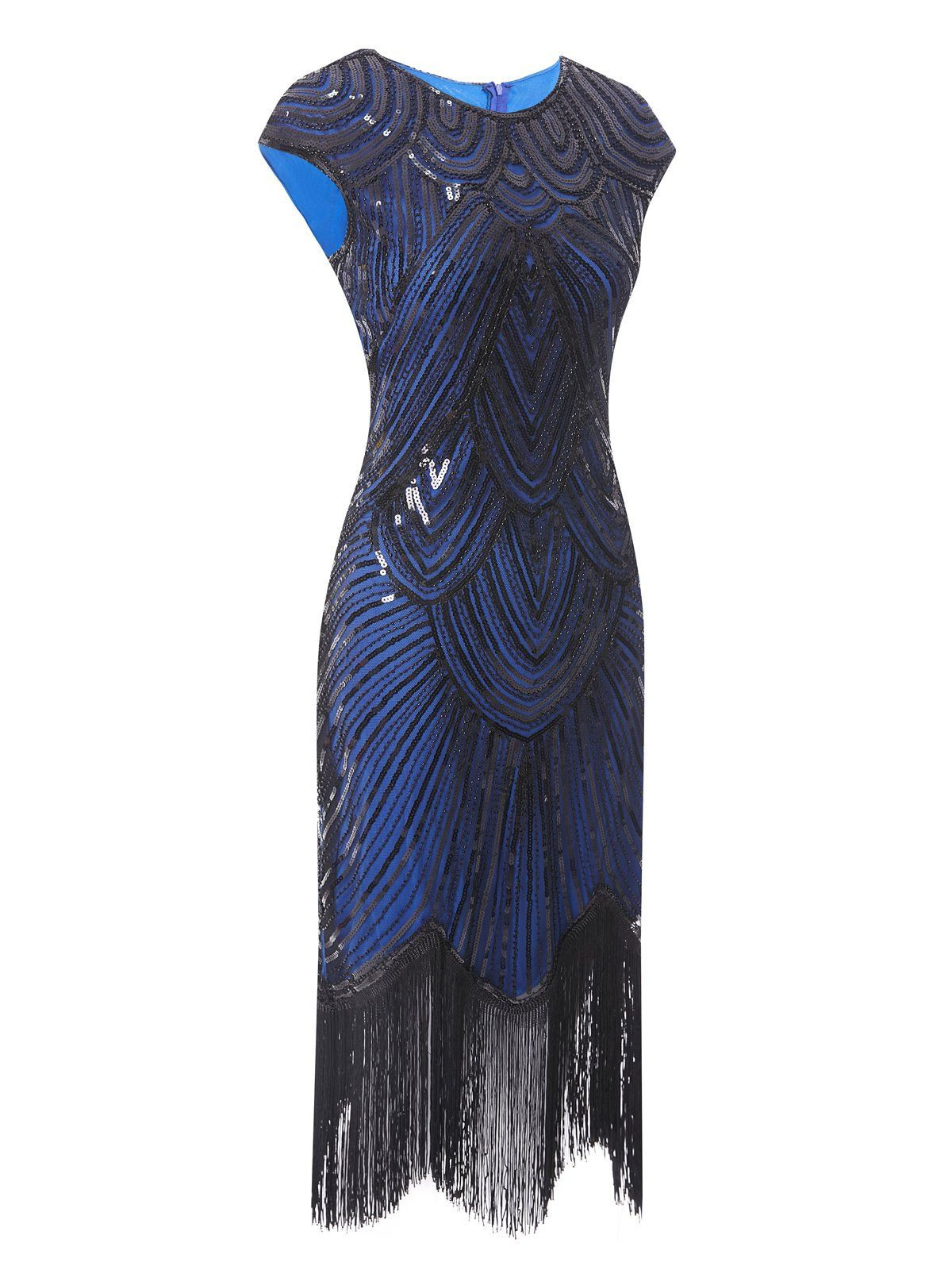 1920S Sequin Beaded Fringed Dress  Retro Stage  Chic