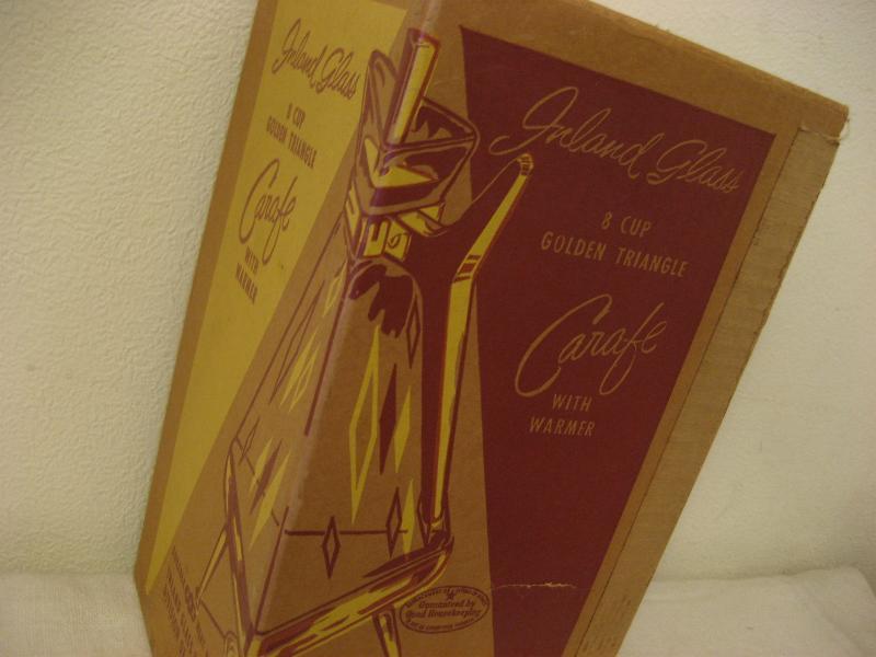 1950'S 50年代 Usa ビンテージ アトミック カラフェ ガラス コーヒー ポット ブーメラン アメーバ