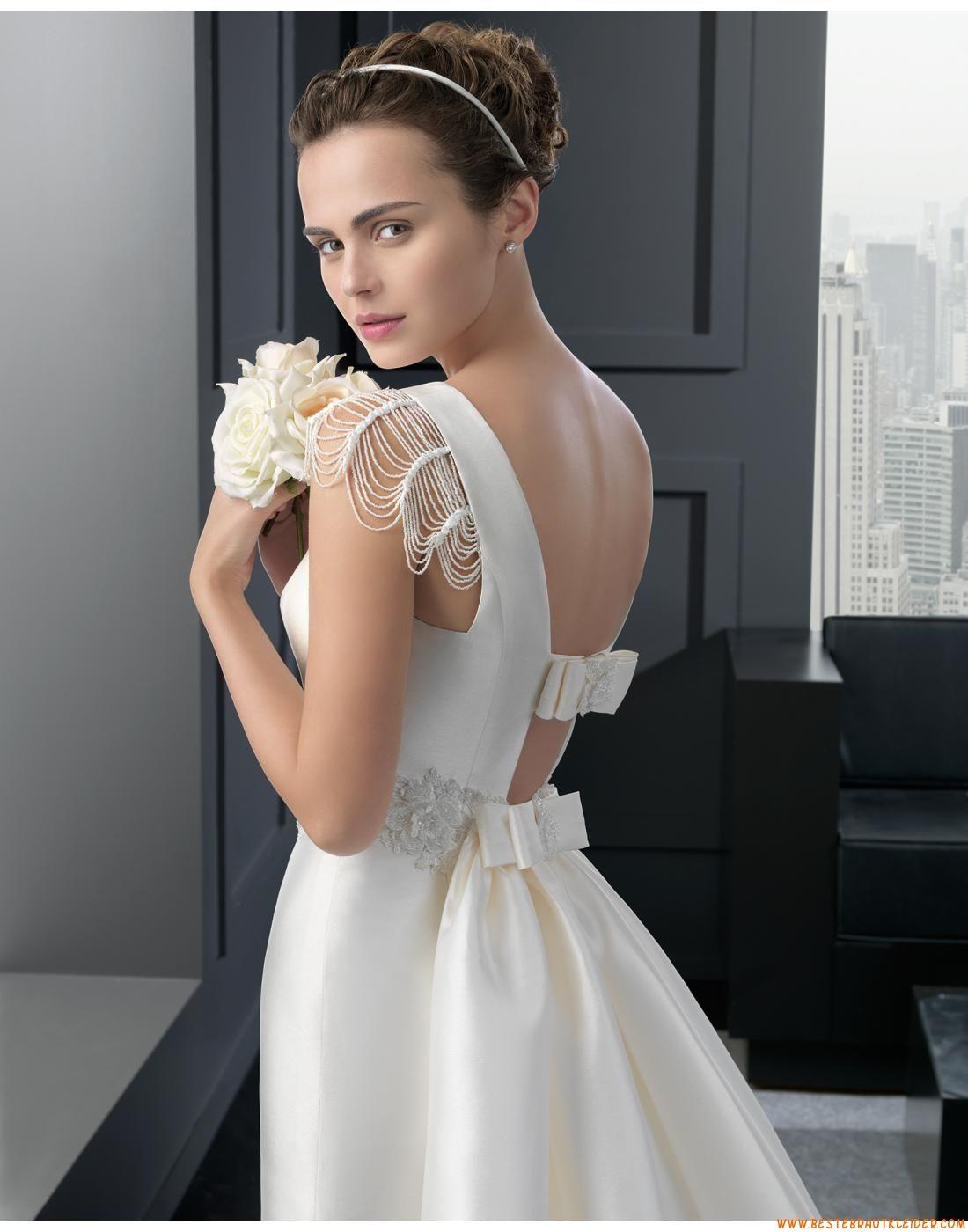 2015 Alinie Exklusive Bodenlange Brautkleider Aus Taft