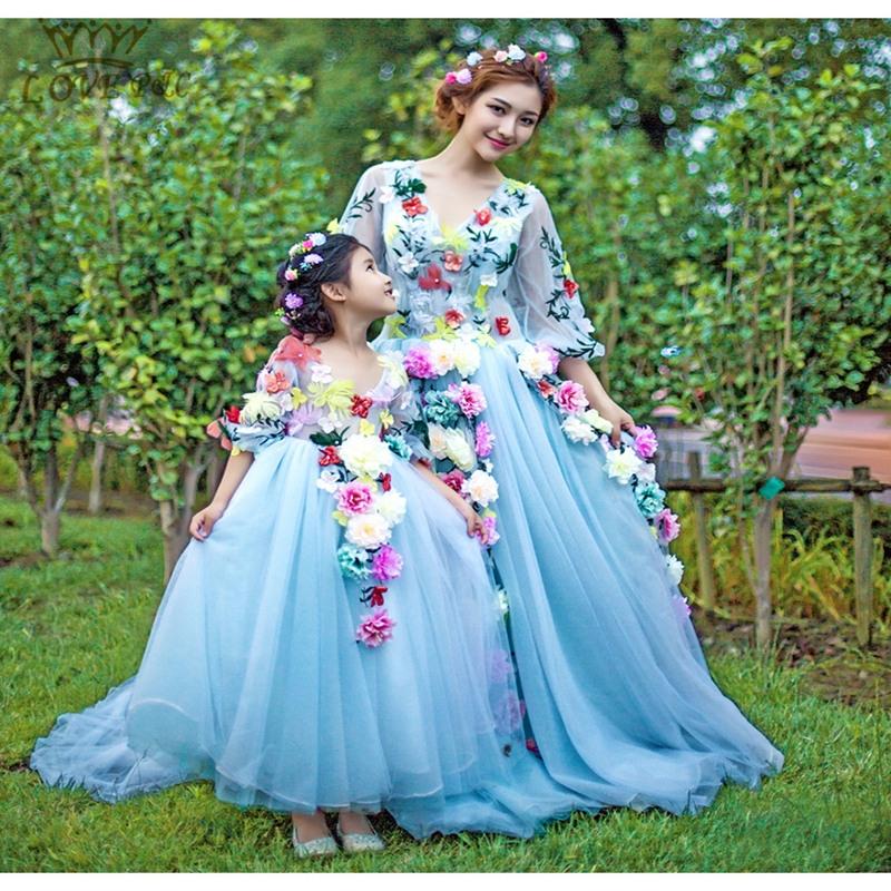 2015 Neue Kleine Mädchen Ballkleid Blumenmädchen Kleid Für