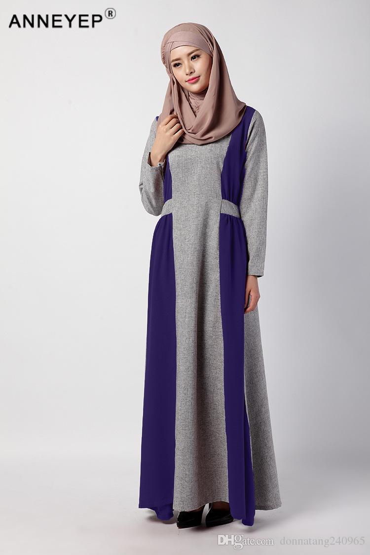 2021 Ladies Hijab Abaya Kaftan Dress Modest Garment