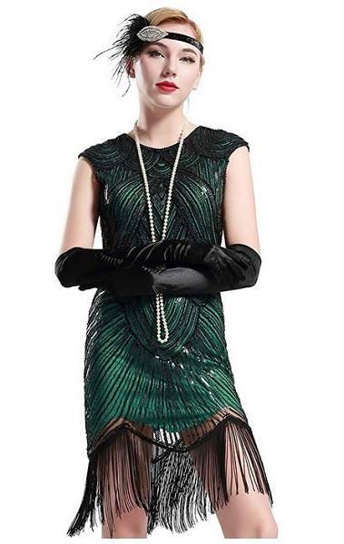 20Er Jahre Kleid / Charleston Kostüm Für Damen Günstig Kaufen