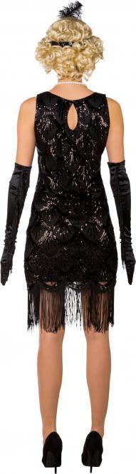 20Er Paillettenkleid Schwarz Fasnacht Onlineshop Schweiz / Ch