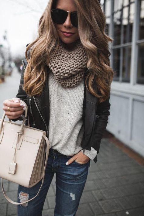 27 Coole Lederjacke Outfits Für Diesen Herbst  Outfit