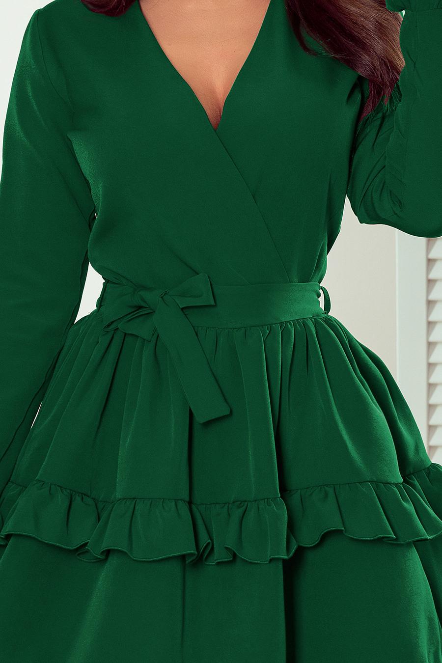2721 Mia Kleid Mit Ausschnitt  Fuchsia  Numoco De