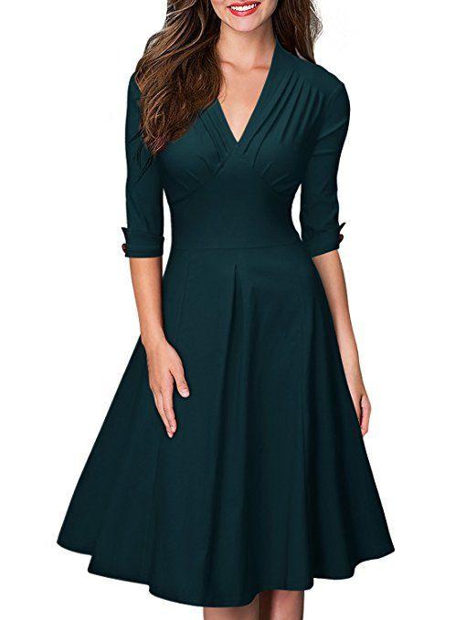 2999€ Miusol Rockabilly Kleid In Edlen Dunkelgrün Klasse