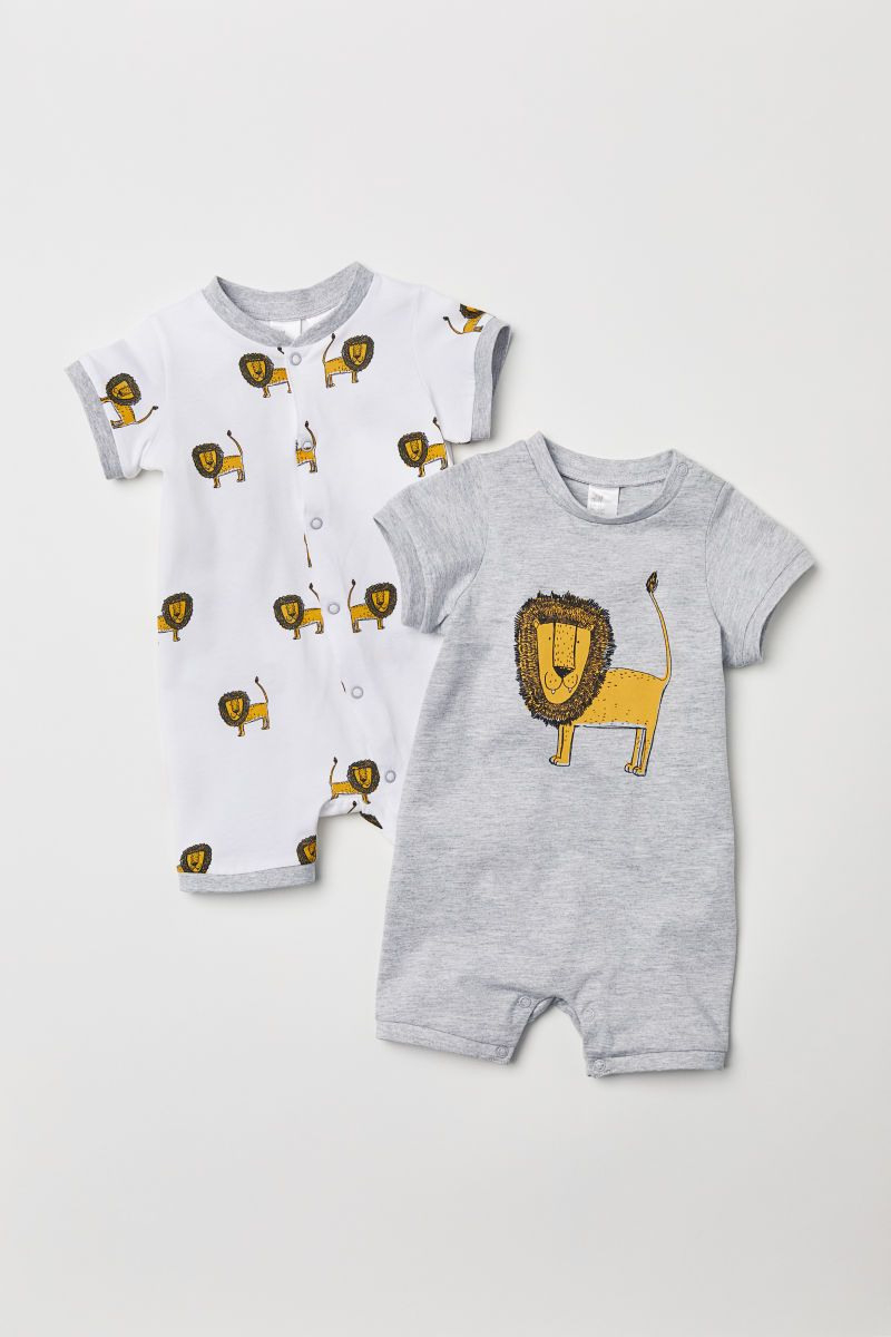 2Erpack Pyjamas  Hellgrau/Löwe  Kinder  Hm At Mit