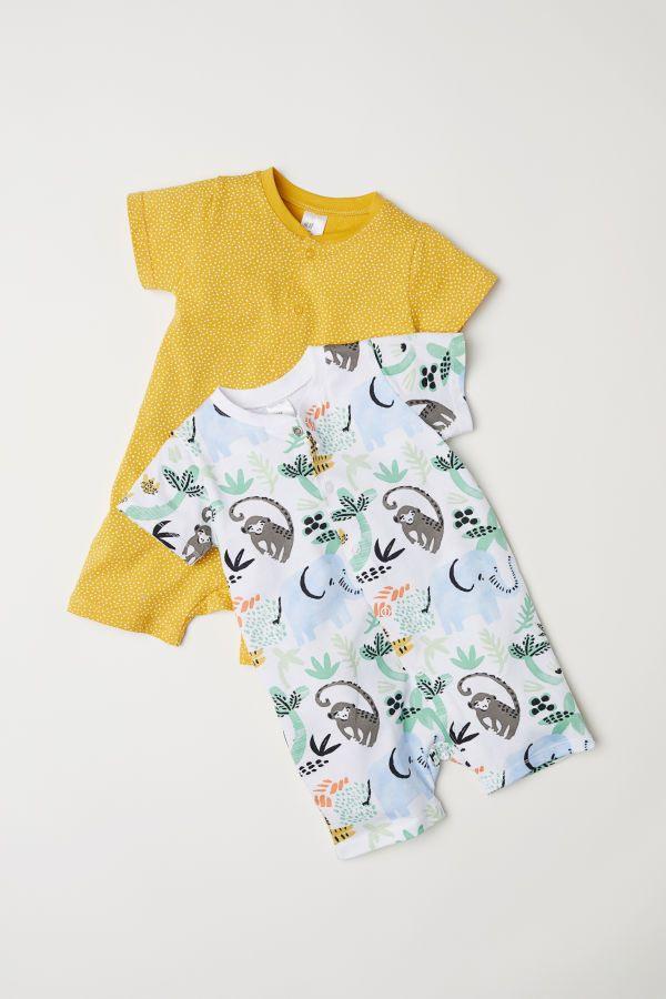 2Erpack Pyjamas  Senfgelb/Gepunktet  Kinder  Hm De