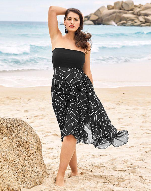 2In1Kleid Auch Als Rock Zipfelsaum  Kleider Modestil