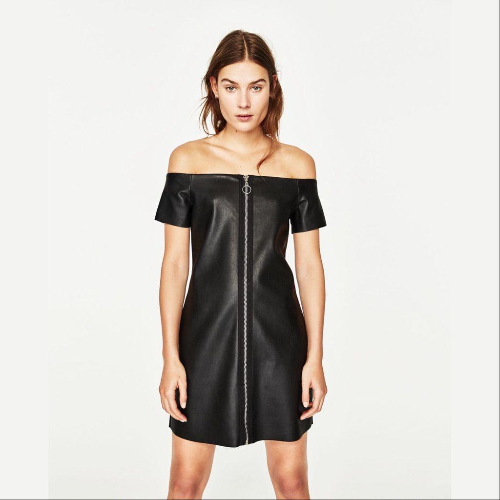2Xhpzara Leathereffect Dress  Dresses Zara Leather