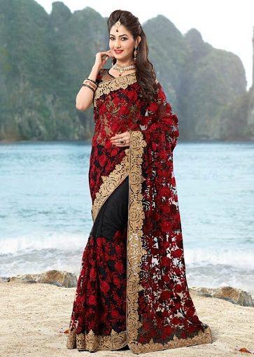 30 Besten Hochzeit Sarees Mit Bildern  Indische Kleidung