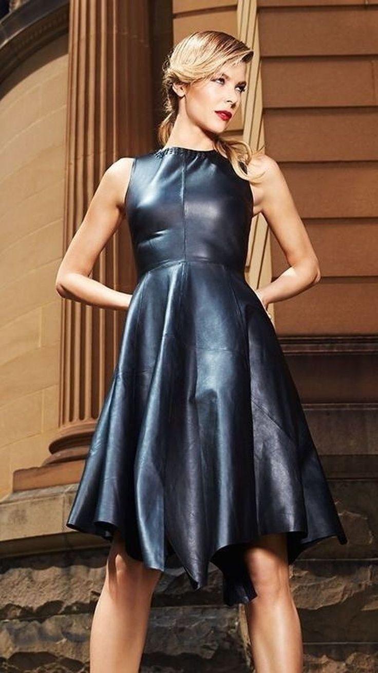 34 Wonderful Leather Dress Design Ideas  Lederkleid
