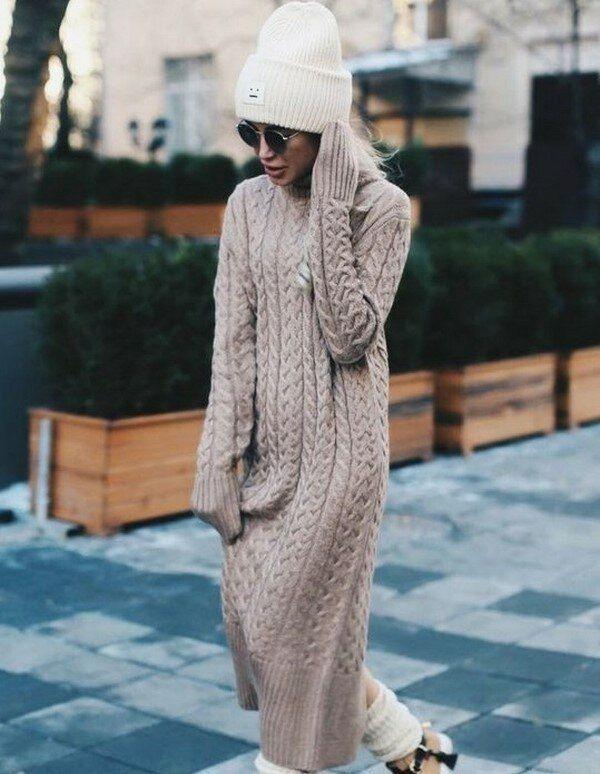 37 Stück Lange Winterkleider In 2020  Kleid Winter Mode