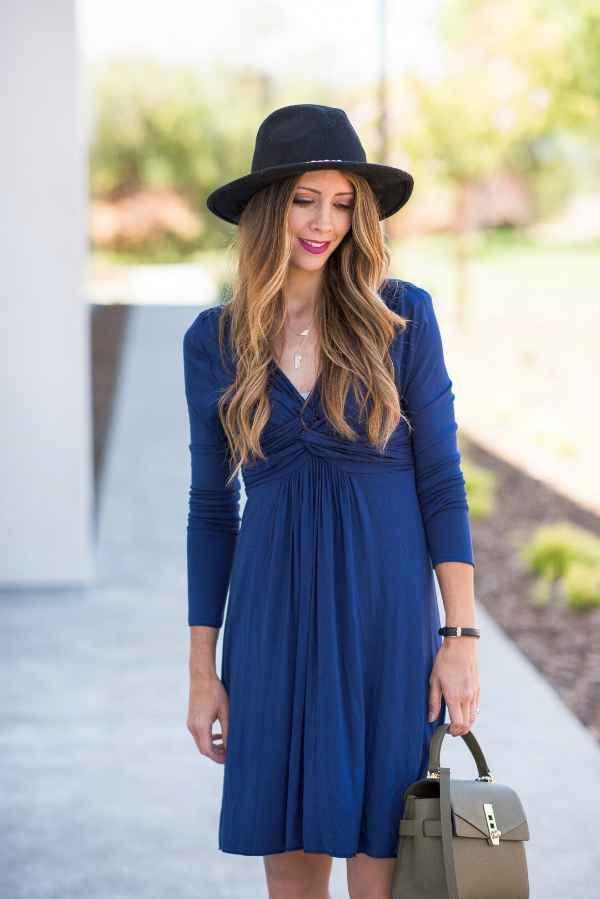 4 Artikel Für Den Herbst  Modestil Marine Kleid Mode