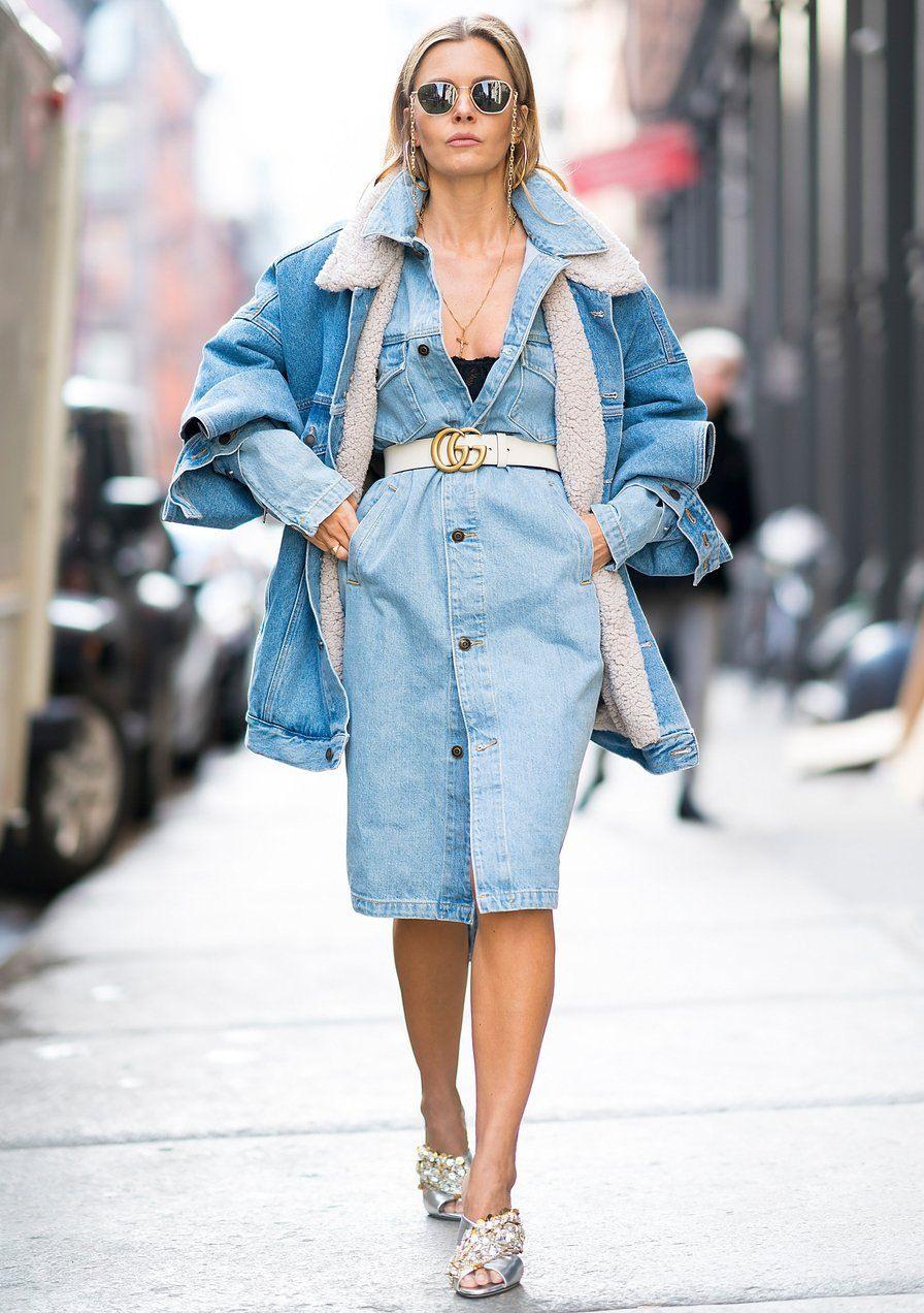 4 Stylingideen Für Dein Jeanskleid  Jeans Kleid