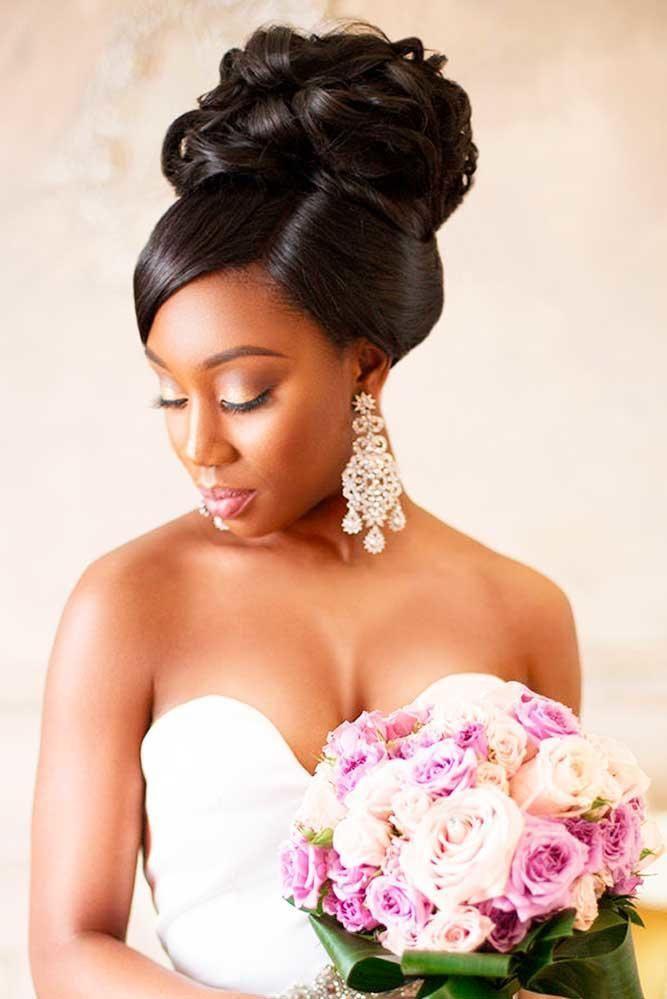 42 Schwarze Frauen Die Frisuren Heiraten  Wedding Ideas