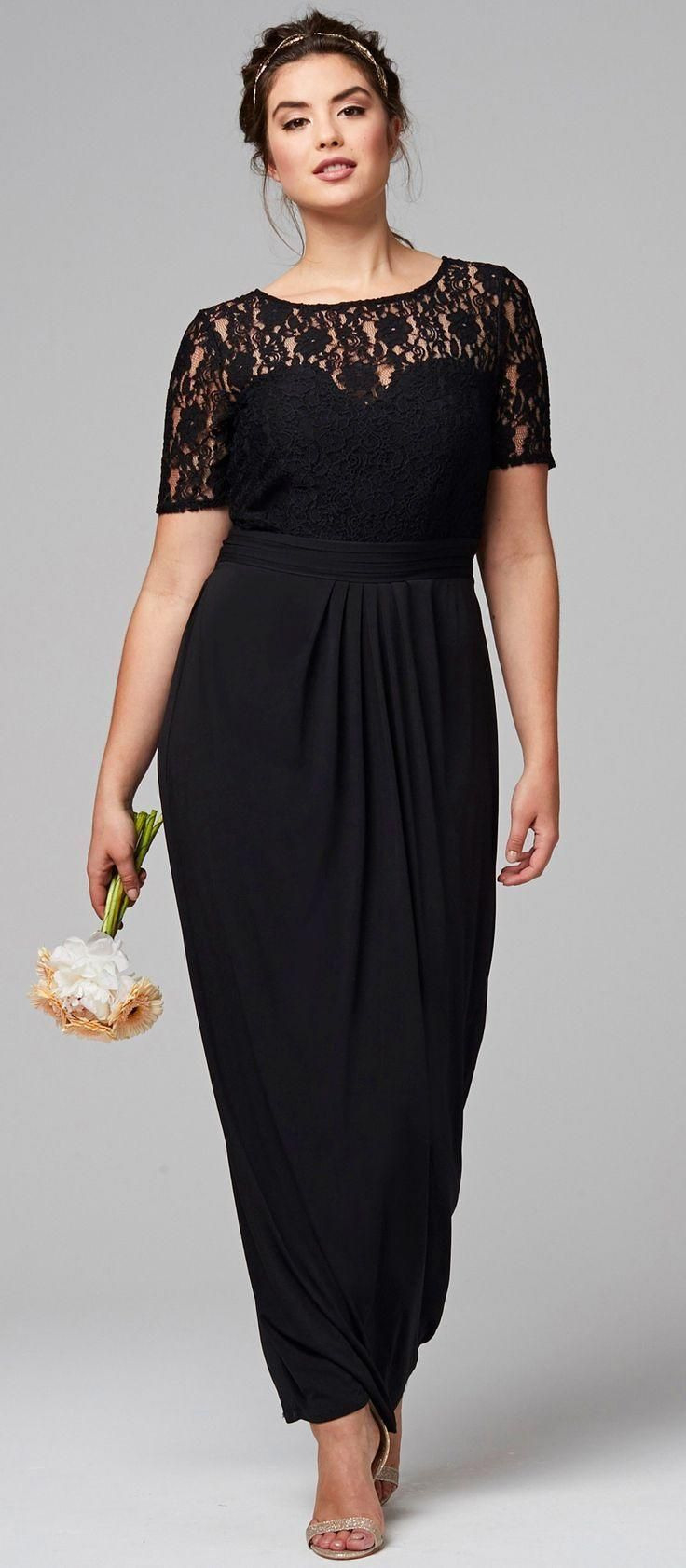 45 Plus Size Wedding Guest Dresses With Sleeves  Kleine