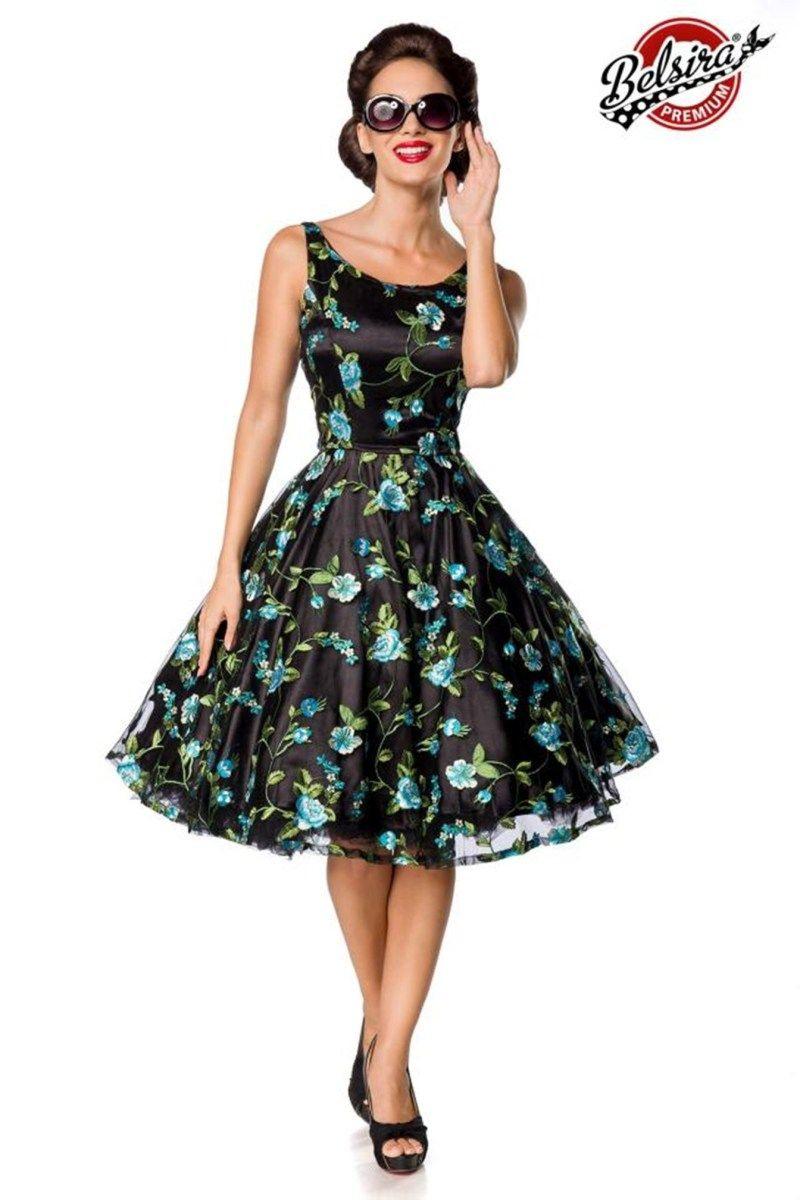 50176 Premium Vintage Blumenkleid Von Belsira
