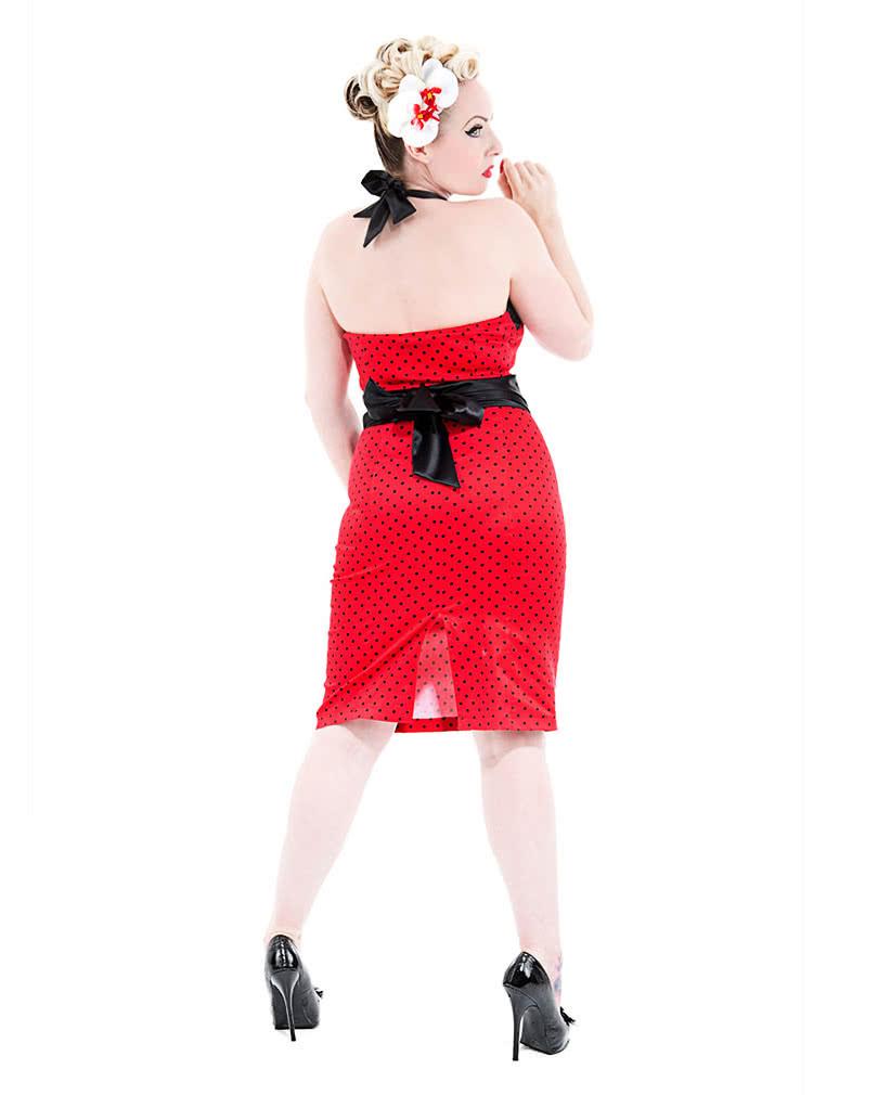50Er Jahre Bleistift Kleid  Neckholder Kleid Pinup Kleid
