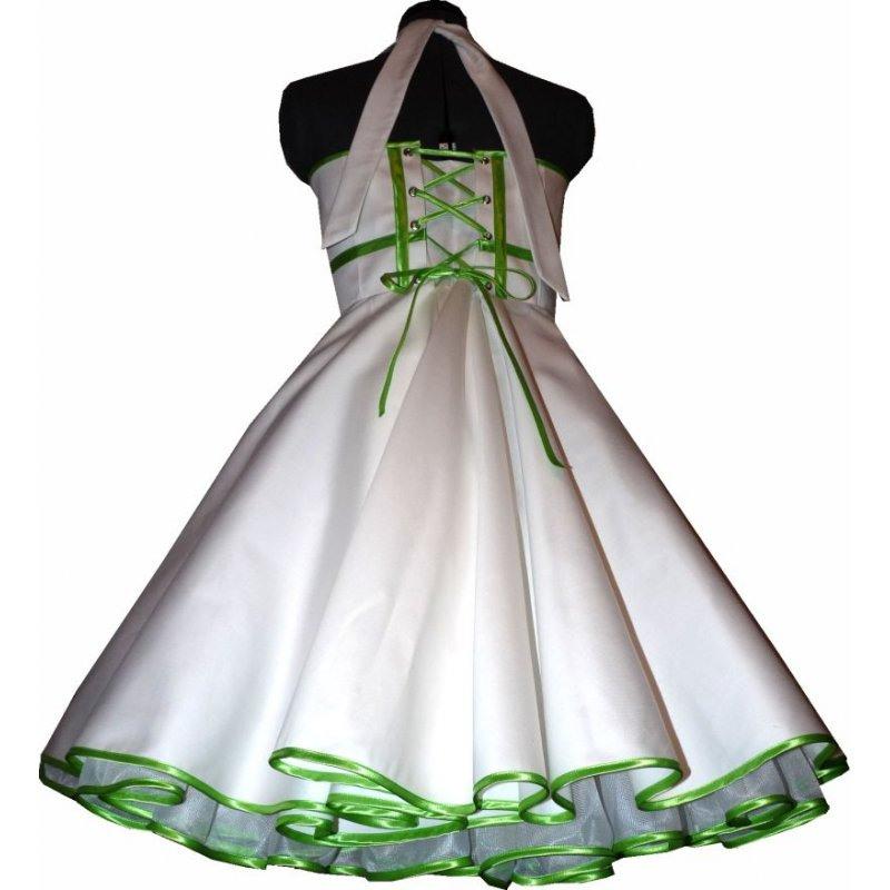 50Er Jahre Brautkleid Zum Petticoat Hochzeitskleid Weiß