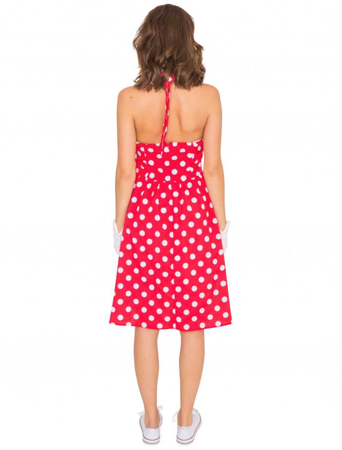 50Er Jahre Kleid Gepunktet Rot Für Karneval Kaufen  Deiters