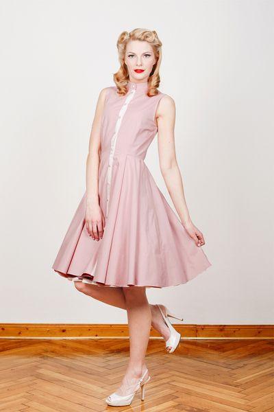 50Er Jahre Kleid Martha Rosa M/38 Von Yvonne Warmbier Auf
