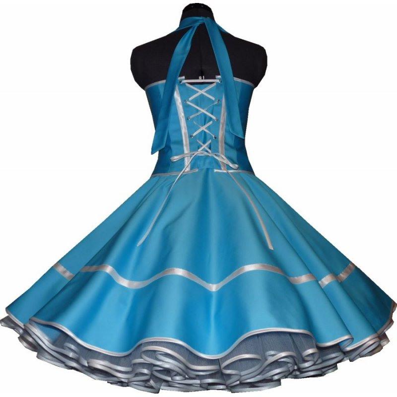 50Er Jahre Kleid Zum Petticoat Einfarbig Uni Viele Farben