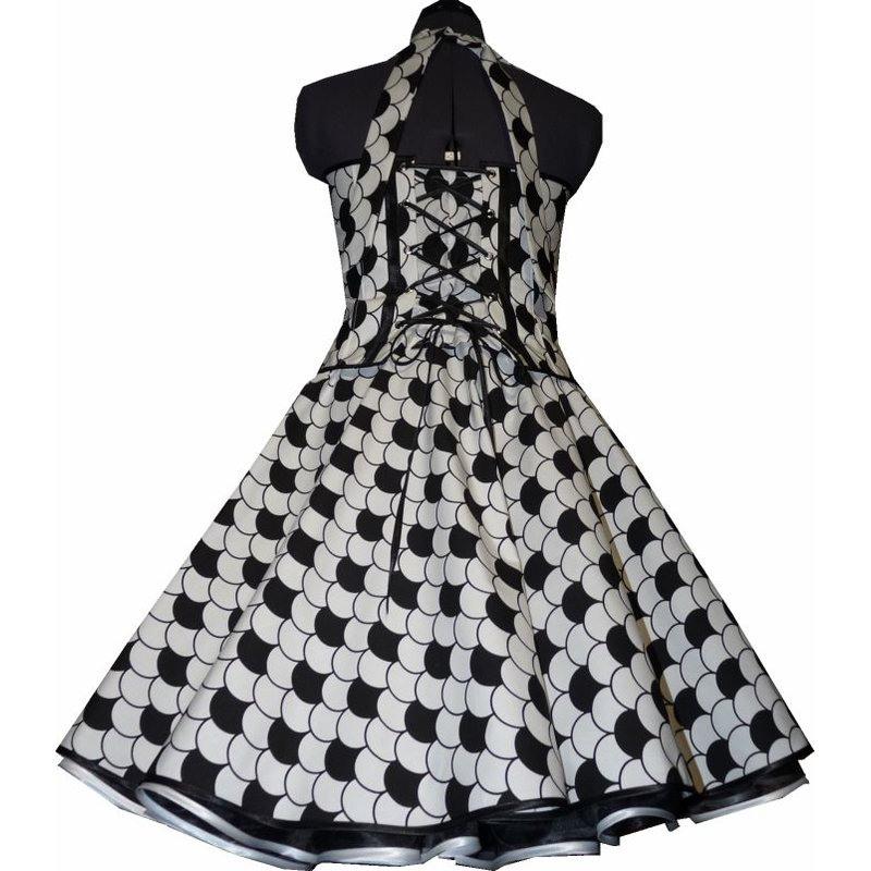 50Er Jahre Kleid Zum Petticoat Weiss Schwarzes Design