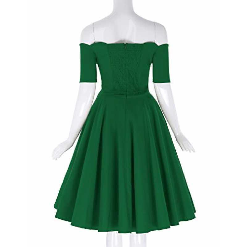 50Er Jahre Rockabilly Kleid Festliches Kleid Knielang Off