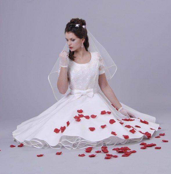 50Er Petticoat Kleid Hochzeit Brautkleid Weiß O Von