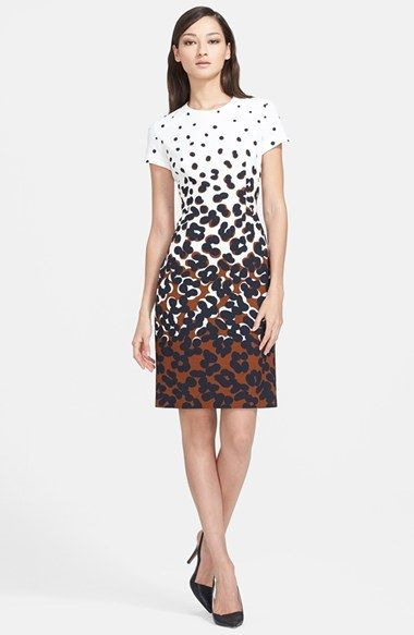 60 Off Escada Dot Print Sheath Dress