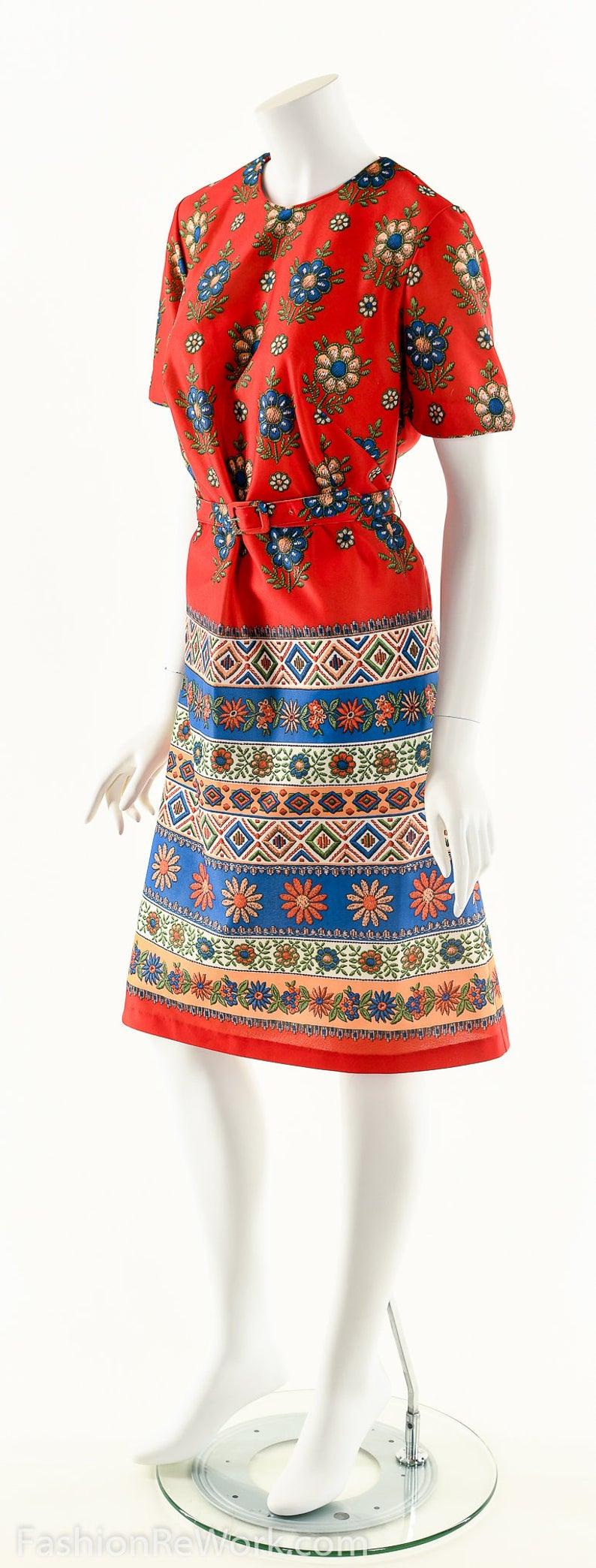 60Er Jahre Mod Kleid Twiggy Hippie Kleid Blume Power Kleid