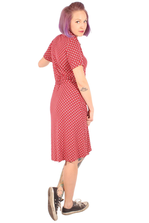 60Er Jahre Retro Aform Stretch Kleid Shirtkleid
