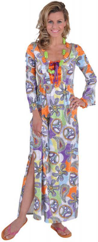 70Er 80Er Jahre Kleid Lang Kostüm Flowerpower Damen Hippie