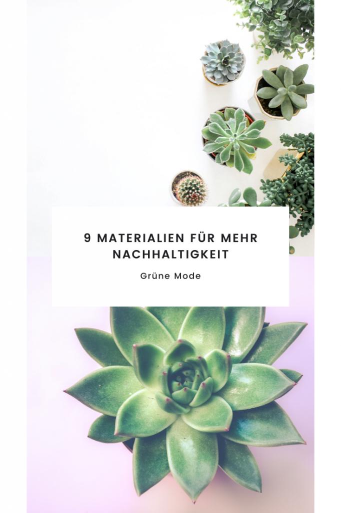 9 Materialien Für Mehr Nachhaltigkeit  Grüne Mode In 2020