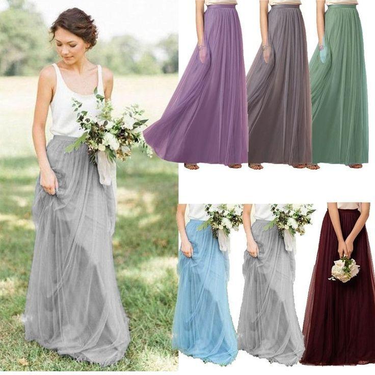 A Line Maxi Skirt In 2020 Mit Bildern  Hochzeitsoutfit