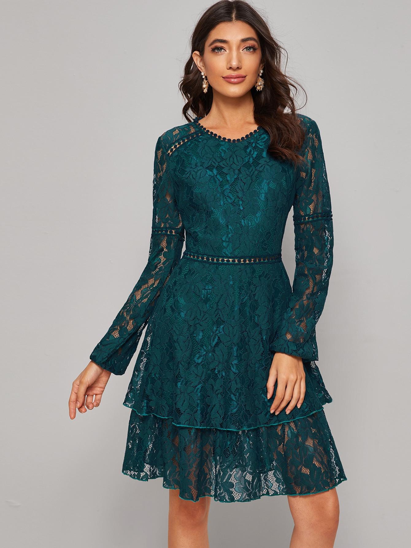 A Linie Kleid Mit Reißverschluss Hinten Und Raffung  Shein