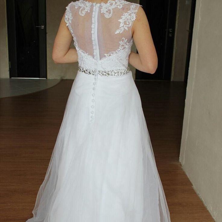 A Linie Weiß Brautkleid Hochzeitskleid Standesamt Tattoo